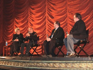 (left to right) Lainie Miller, Dick Miller, Peter Sobczynski, Steve Prokopy