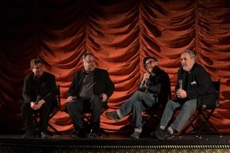Bobcat Goldthwait, Barry Crimmons with film critics Steve Prokopy and Erik Childress