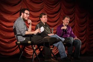 Ken Kuenne with film critics Erik Childress and Nick Allen
