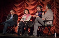James Ponsoldt and Joan Cusack with film critics Brian Tallerico and Richard Roeper