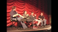 Director Charles Hood and Adam Palley of NIGHT OWLS with film critics Erik Childress and Steve Prokopy