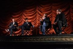 Alfonso Gomez-Rejon and Jeremy Dawson with film critics Brian Tallerico and Steve Prokopy