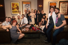 """The Neo-Futurists with the cast and crew of """"Operator"""""""