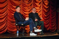 "Bo Burnham ""director of ""Eighth Grade"" and Steve Prokopy."