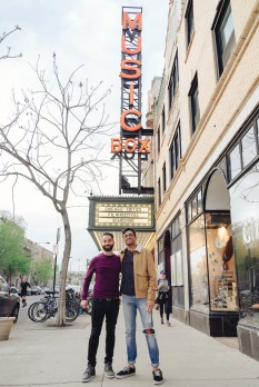 "Aneesh Chaganty and Sev Ohanian, director and producer of ""Searching""."