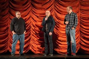 "Steve Prokopy and directors David and Nathan Zellner introduce ""Damsel""."