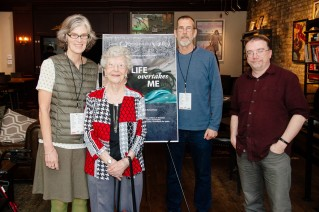 """""""Life Overtakes Me"""" directors John Haptas (second from right) and Kristine Samuelson (far left)."""